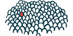 Rare Disease Cures Accelerator-Data and Analytics Platform | Pompe Disease News | Illustration of single person outline highlighted among many
